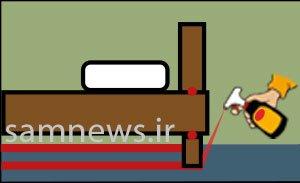 شکل (1) : سمپاشی مینیاتوری در مرحله اول جهت آماده سازی برای استفاده قرص گاز سوز